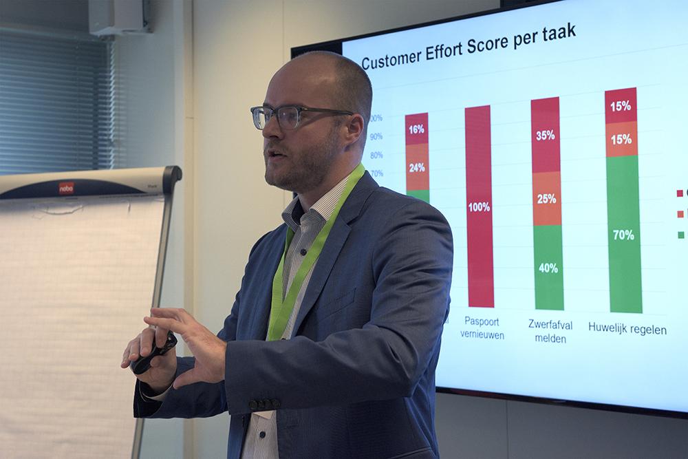 Pieter Pinxten tijdens zijn workshop 'Uw bezoekers verbeteren uw website in 30 seconden'