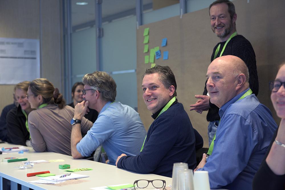 Stefan Bakker tijdens zijn workshop 'Maak je eigen Klantreis'