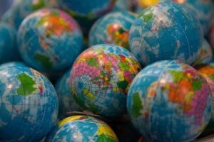 Foto van wereldbollen