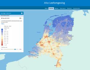 Screenshot Roet jaarlijkse concentratie 2016